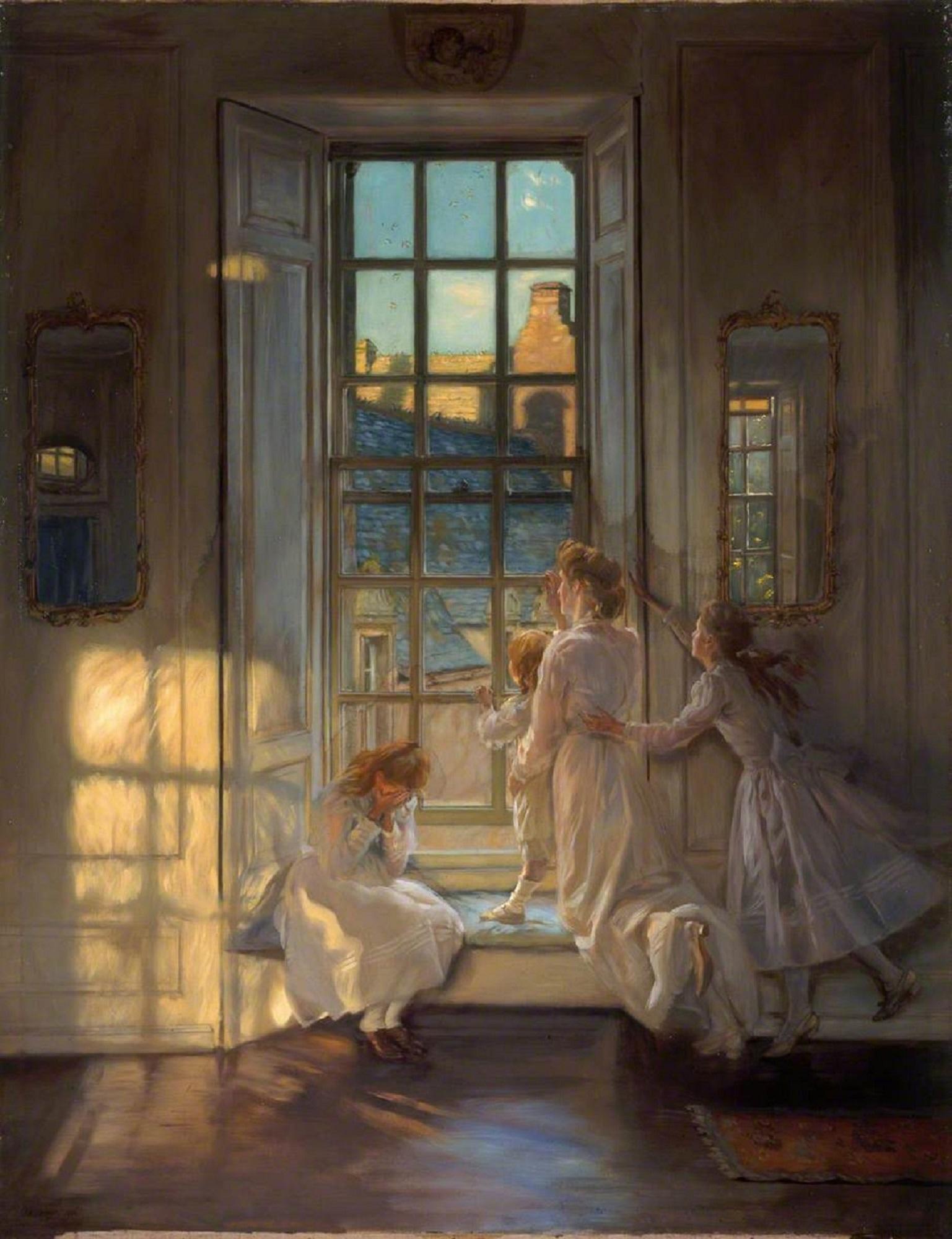 John Henry Lorimer, Flight of the Swallows, oil on canvas, 1906. Museums & Galleries Edinburgh, City Art Centre