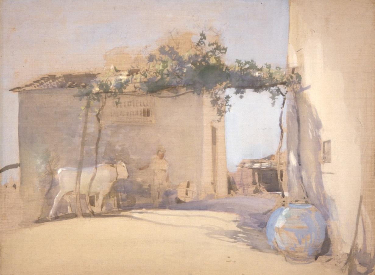 E.A. Walton, Farmyard near Florence, unknown date. City Art Centre, Museums & Galleries Edinburgh