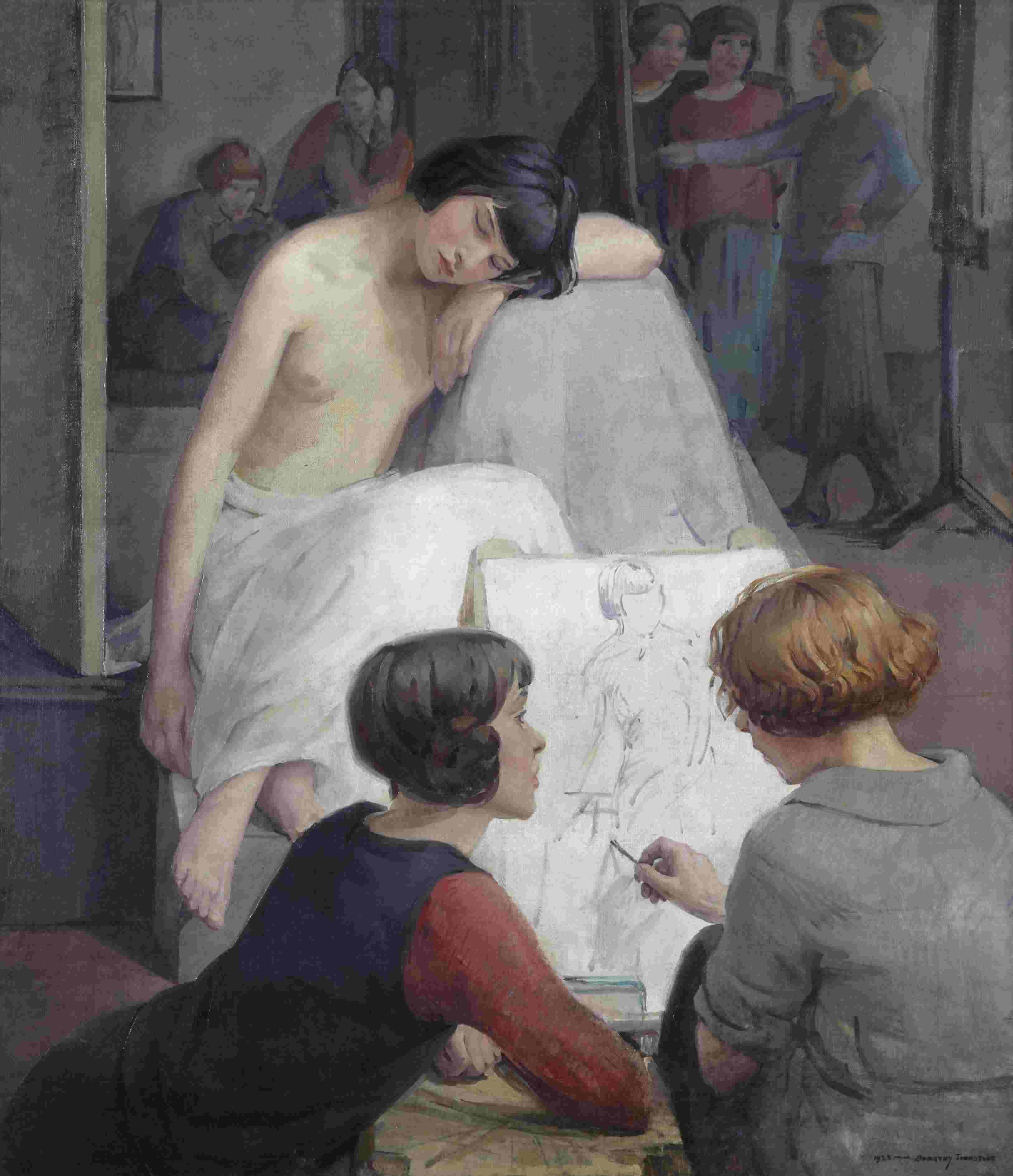 Dorothy Johnstone, Rest Time in the Life Class, 1923. © the artist's estate