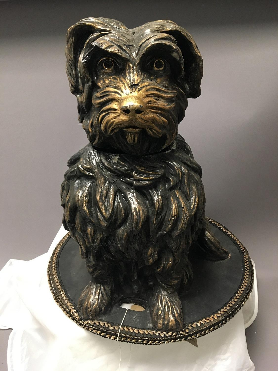 Fibreglass model of Grayfriars Bobby used at the 2014 Commonwealth Games, front view
