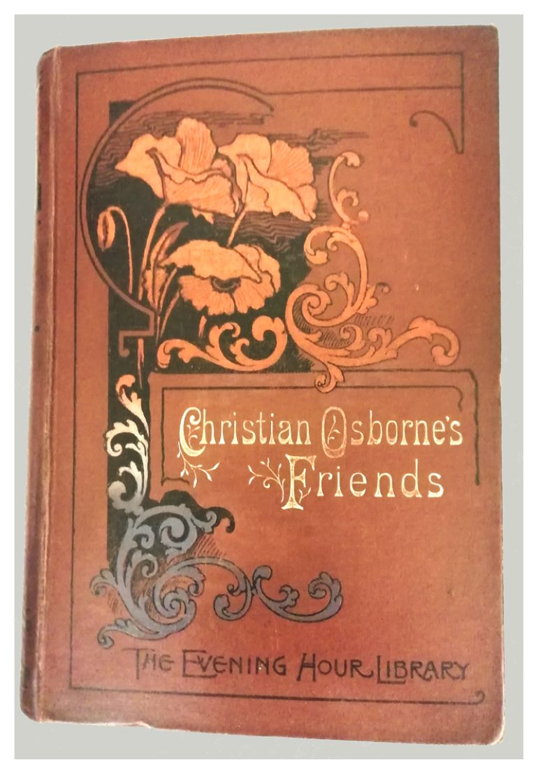 Front cover of Christian Osborne's Friends book with floral decoration