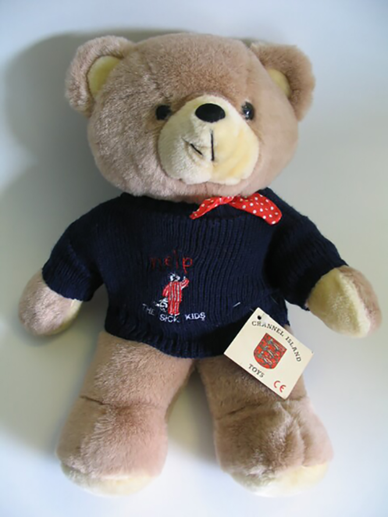 Jamie the Bear teddy bear sold to raise funds for the Royal Hospital for Sick Children