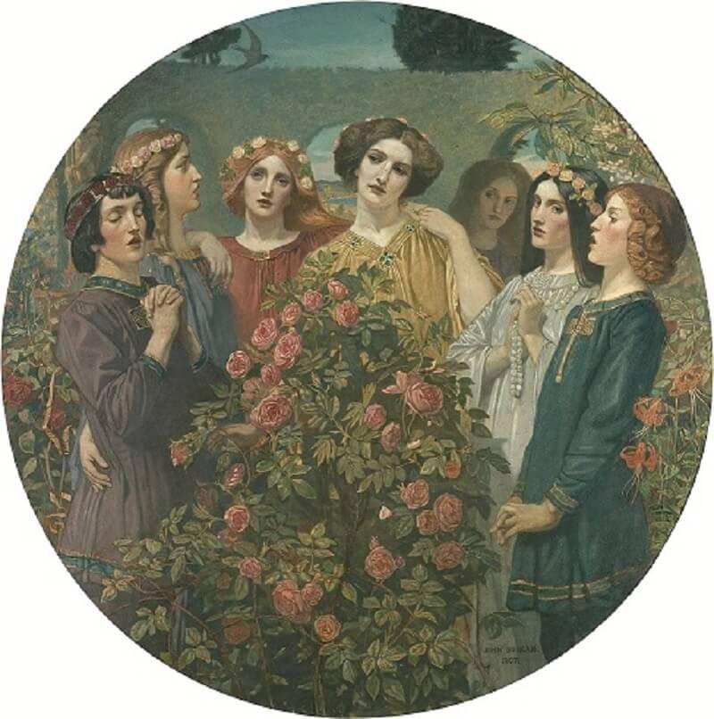 John Duncan, Hymn to the Rose, 1907. City Art Centre, Museums & Galleries Edinburgh.