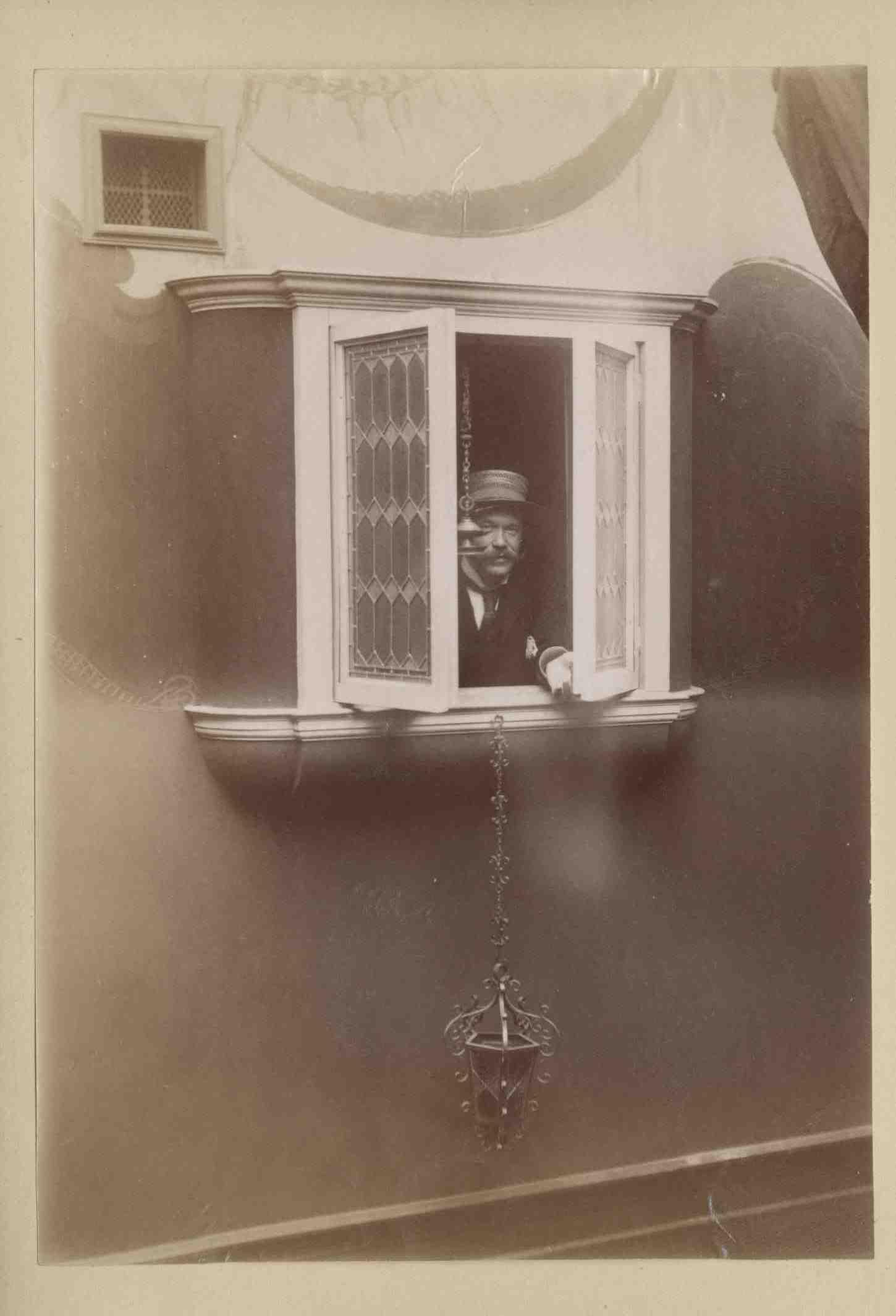 Joseph Paterson Ross in his studio?