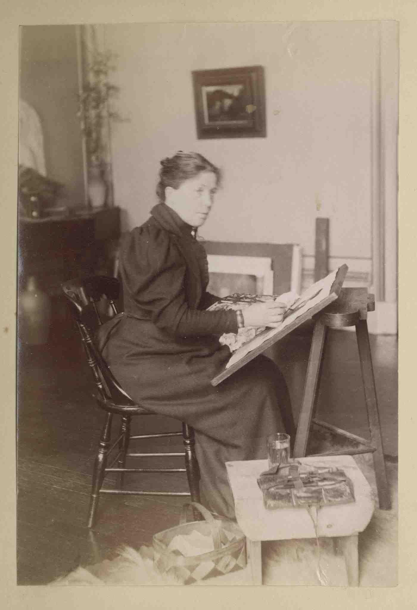 Christina Paterson Ross in her studio?