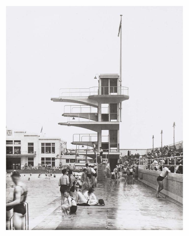 Diving boards at Portobello Bathing Pool, 1930s