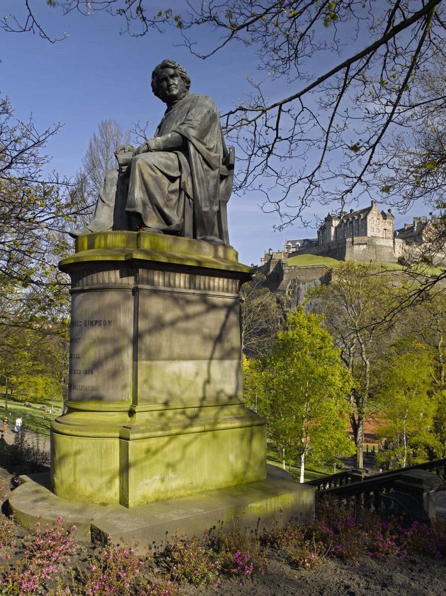 Sir James Young Simpson Memorial, 1877, © Edinburgh Libraries, www.capitalcollections.org.uk