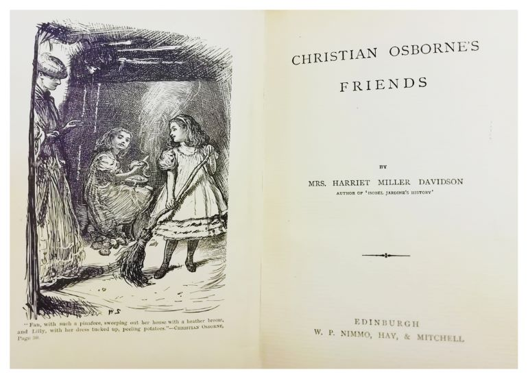 Title page of book Christian Osborne's Friends by Harriet Davidson