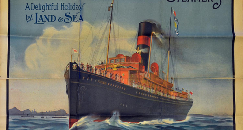Steamer Boat Poster