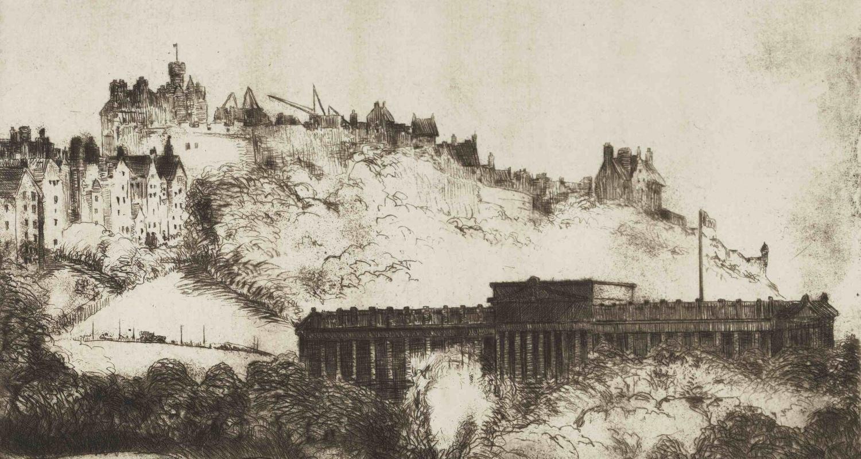 Nicol Laidlaw, National Gallery and Castle, Edinburgh, 1925. City Art Centre, Museums & Galleries Edinburgh.