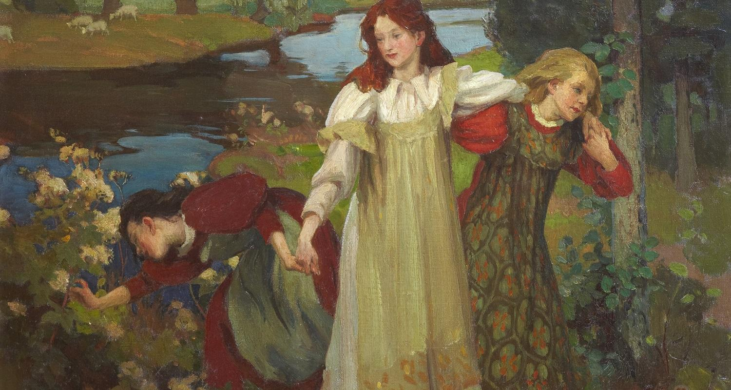 Charles H. Mackie, There were Three Maidens pu'd a Flower (By the Bonnie Banks o' Fordie), c.1897. City Art Centre, Museums & Galleries Edinburgh