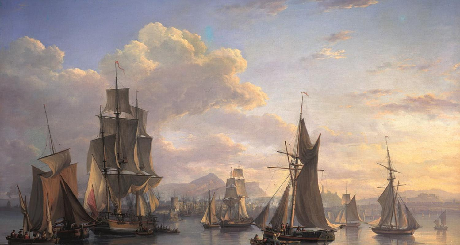 Detail from The Port of Leith by Alexander Nasmyth.