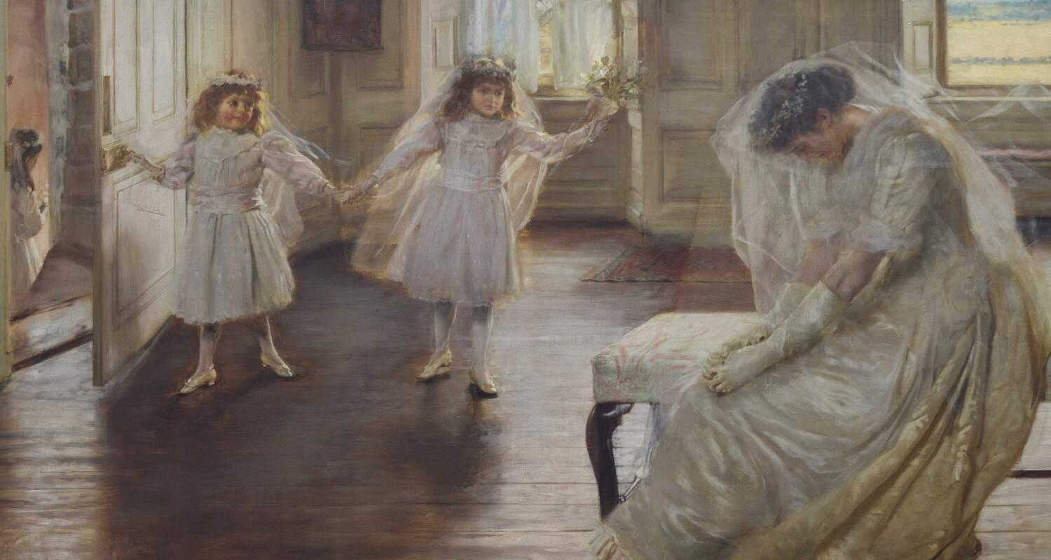 Edwardian Family playing in a light filled room