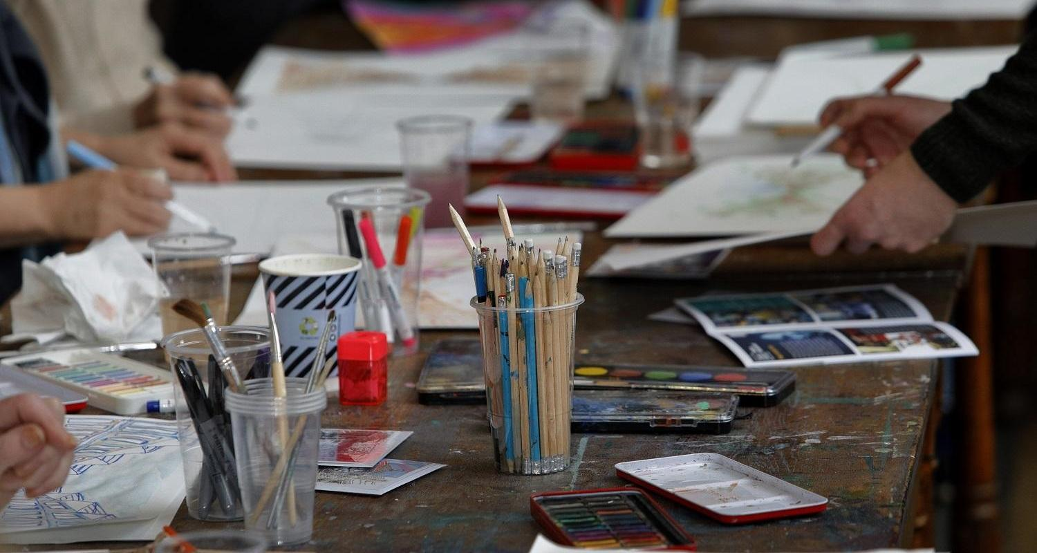 City Art Centre workshops. Image by Graham Clark for Museums & Galleries Edinburgh