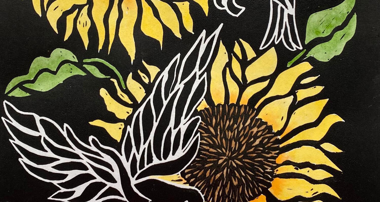 Linocut artwork
