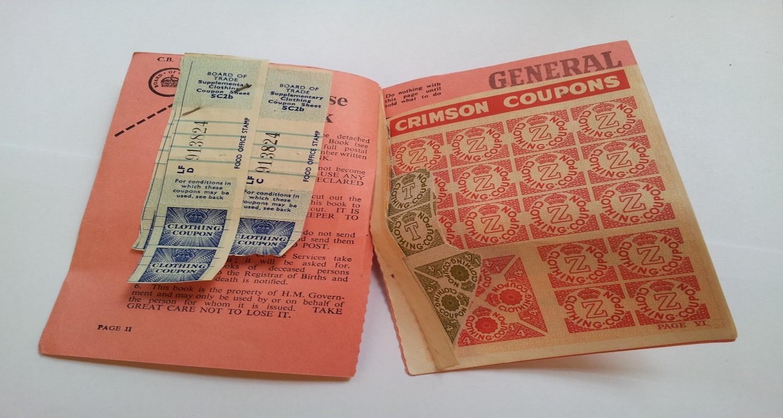 Vintage paperback booklet for clothing rations