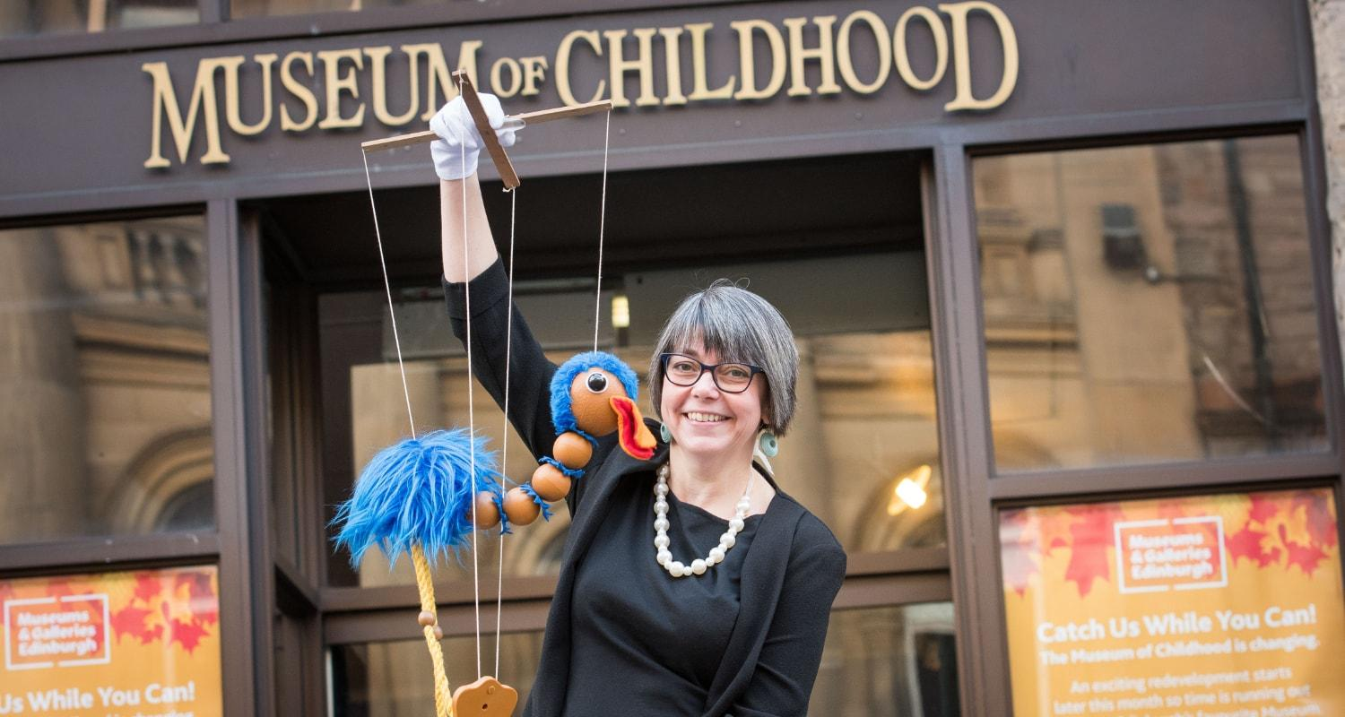 Curator Lyn Wall outside Museum of Childhood