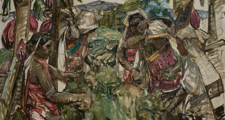 Ceylonese Tea Pickers, E. A. Hornel, c.1907, oil on canvas, National Trust for Scotland, Broughton House & Garden.