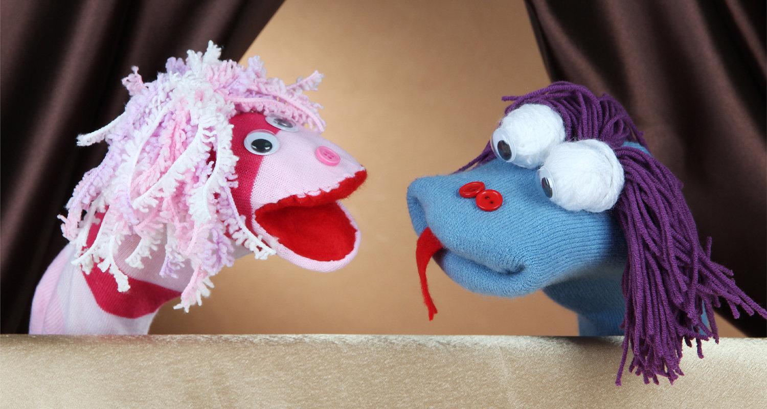 Sock puppets at Lauriston Castle