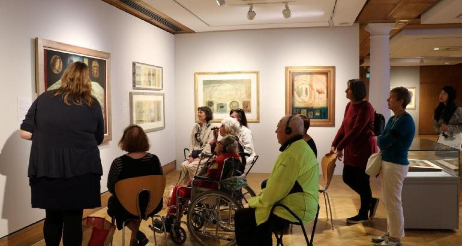 Tour for people with visual impairments