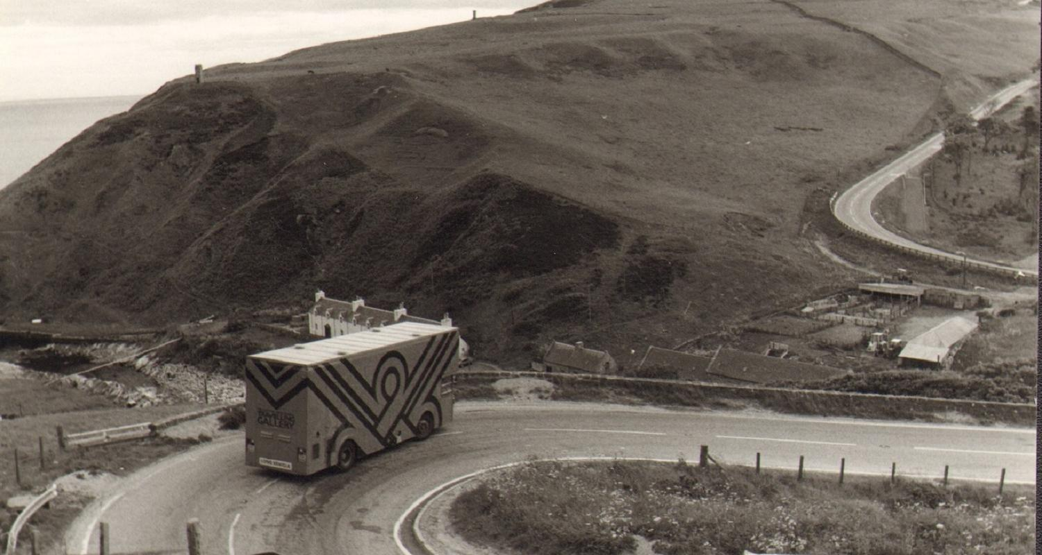 Image credit: Archive image of the Travelling Gallery bus, Photograph courtesy of the Travelling Gallery.