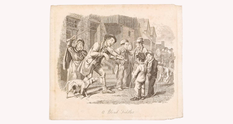 A Blind Fiddler, Walter Geikie