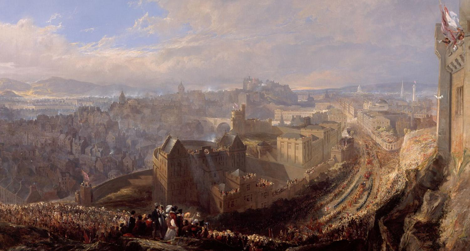The Entry of George IV into Edinburgh from the Calton Hill by John Wilson Ewbank.