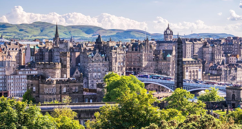 Landscape of Edinburgh's city centre