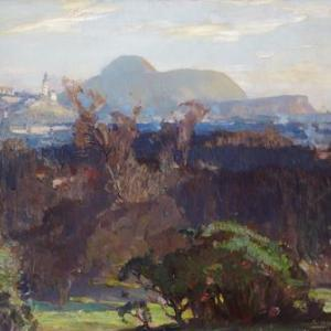 Robert Hope, Edinburgh from the Arboretum, early 20th century, oil on canvas