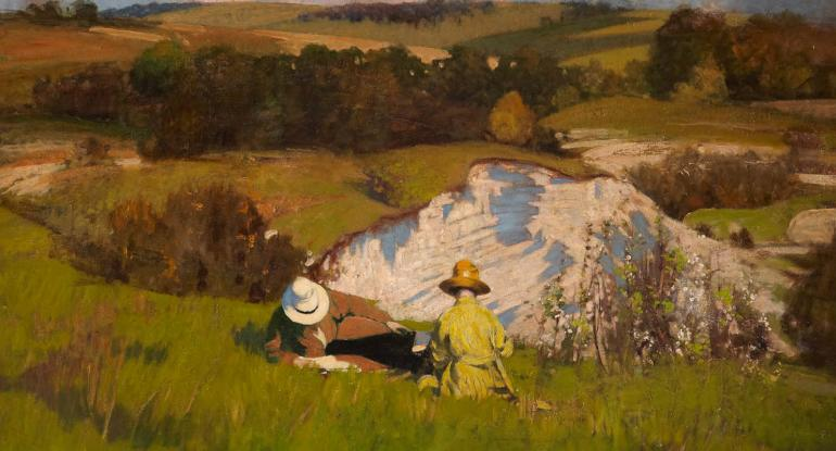 George Henry, The Chalk Pit, 1922. City Art Centre, Museums & Galleries Edinburgh.