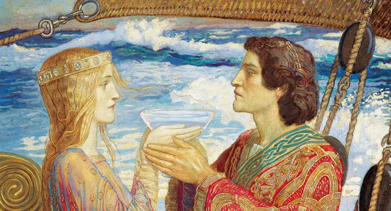 Tristan and Isolde (detail) by John Duncan (1866-1945), Museums & Galleries Edinburgh.