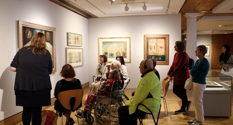 Descriptive Tour for visually impaired visitors of Jock McFadyen Goes to the Pictures