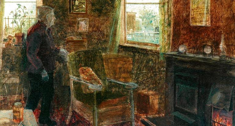 Interior, Monk's Cottage. Victoria Crowe.