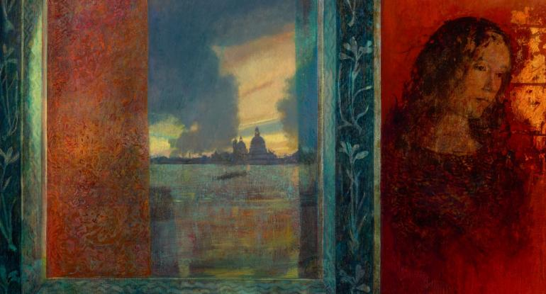 Victoria Crowe: Reflected Drama, San Giorgio. Photographer: Antonia Reeve. Private Collection