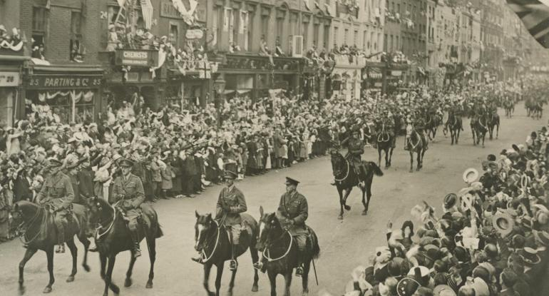 Victory parade in July 1919 held at London