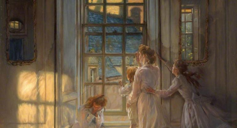 John Henry Lorimer, Flight of the Swallows, oil on canvas, 1906. Museums & Galleries Edinburgh, City Art Centre