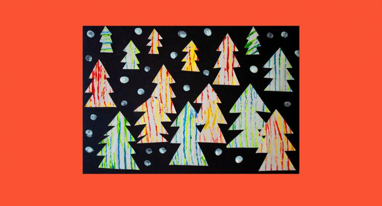 Christmas Tree String Prints images of trees