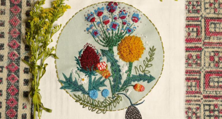 Romantic Victorian Florals embroidery workshop