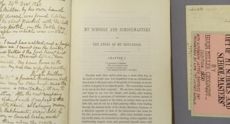 Image of the book My Schools and Schoolmasters, laid open