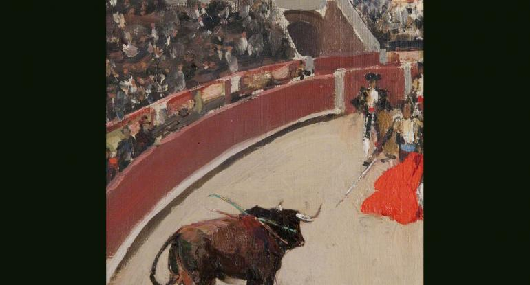 Perceptions of Spain. John Lavery, El Espada, 1892,  North Ayrshire Heritage Centre