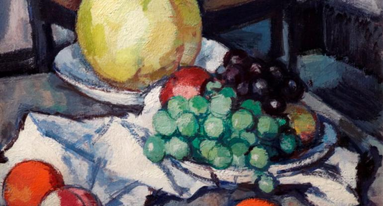 Samuel John Peploe, Still Life with Melon and Grapes