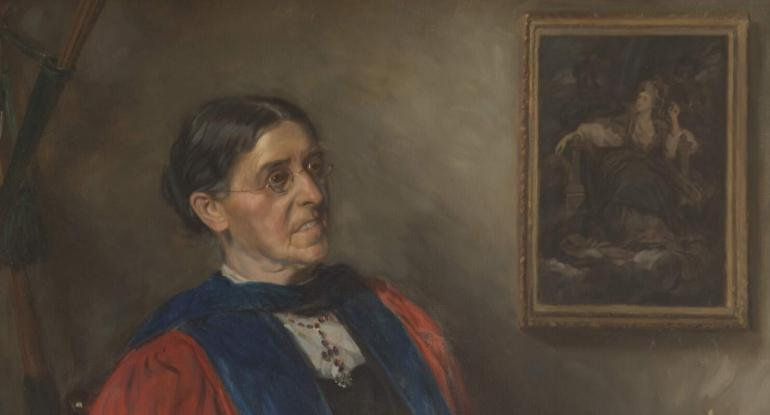 Portait of Suffragist Dame Sarah Elizabeth Siddons Mair (1846-1941)
