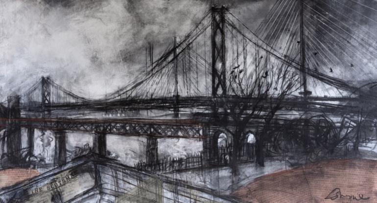 Three-Bridge-Evening-by-Kate-Downie-detail-2019