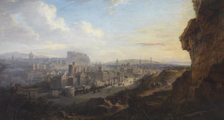 Alexander Nasmyth, Edinburgh from the Calton Hill, 1820, oil on canvas