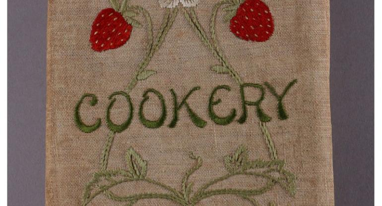 Plain Cookery Recipes book complete with hand-embroidered cover, © City of Edinburgh Council Museums & Galleries
