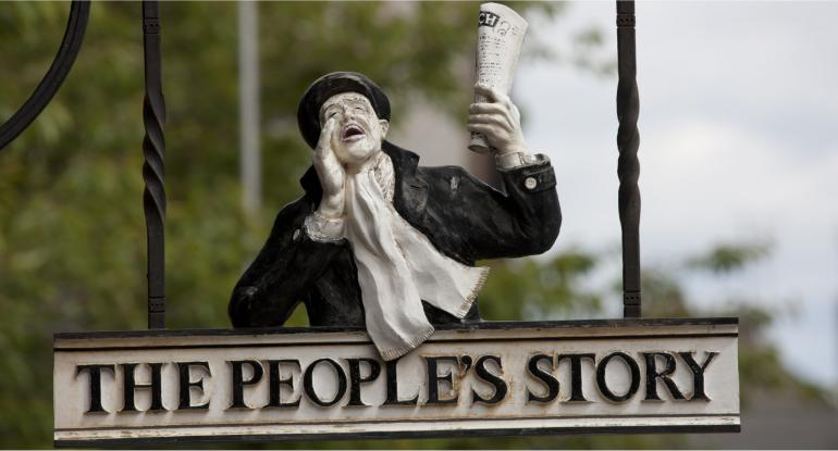 Peoples Story Museum Edinburgh Sign