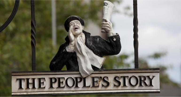 Peoples Story Museum Edinburgh Sign