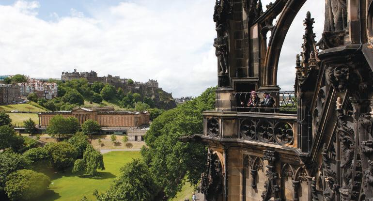 Visitors at the Scott Monument