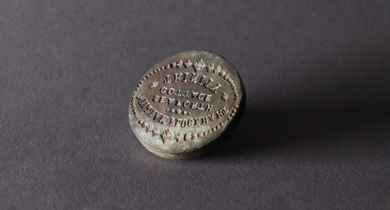 William Flockhart sealing wax stamp c1855. Image © City of Edinburgh Council Museums & Galleries Museum of Edinburgh.JPG