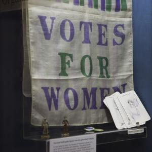 Votes for Women poster at Peoples Story Museum Edinburgh